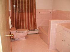 and just for kicks and giggles my pink bathroom