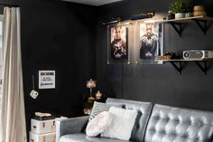 Bringing The Movie Theater Home With Your Family In Mind (It's A REVEAL Y'all!) - Emily Henderson #tvroom #movieroom #homedecor Living Room Furniture, Living Room Decor, At Home Movie Theater, Paint Colors For Living Room, Decorating Small Spaces, Cool Rooms, Home Goods, Design, Home Decor