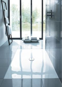 Buy the Duravit 720092000000090 Acrylic White Direct. Shop for the Duravit 720092000000090 Acrylic White DuraPlan Shower Tray Flush Fitted x and save. Glass Shower Panels, Shower Floor, Shower Base, Bath Shower, Duravit, Bad Inspiration, Bathroom Inspiration, Small Space Bathroom, Master Bathroom