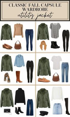 When a new season comes around, it's tempting to go a little crazy and buy tons of new clothes. But what usually happens with these shopping sprees is that you'll end up with 15 trendy sweaters and yet still feel like you don't know what to wear. The answer? Still shop, but shop strategically. In this post, we'll cover why you need a fall capsule wardrobe, what it should have, a shopping list, how to wear the key fall items, and lots more! #falloutfits #fallstyle #fallfashion #utiltyjacket Capsule Outfits, Fall Capsule Wardrobe, Fashion Capsule, Mode Outfits, Fashion Outfits, Fall Travel Wardrobe, Ski Outfits, Casual Fall Outfits, Fall Winter Outfits