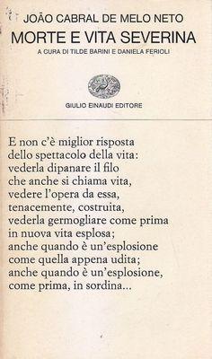 MORTE E VITA SEVERINA di Joao Cabral De Melo Neto - Giulio Einaudi Editore 1973