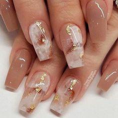 Gold Acrylic Nails, Acrylic Nails Coffin Short, Gold Nails, Acrylic Nail Designs, Marble Nails, Coffin Nails, Nail Designs With Gold, Marble Nail Designs, Fingernail Designs