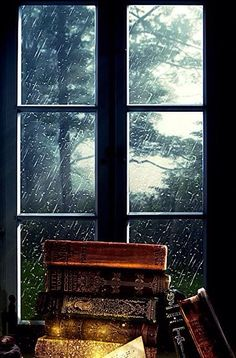 Rainy Day Read by FictionChick, Deviant Art Rainy Night, Rainy Days, I Love Rain, Relax, Boho Home, Singing In The Rain, Through The Window, Window View, When It Rains