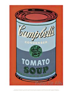 Andy Warhol Campbells Soup Can 1965 Blue and Purple Art Print Poster Art Violet, Purple Art, Sopa Campbell, Campbell's Soup Cans, Campbell Soup Company, Andy Warhol Art, Art Icon, Vintage Advertisements, Vintage Ads