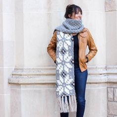 Whether you live in the North Pole or just want to jump on the super scarf trend, this nordic crochet super scarf pattern is the perfect winter statement piece!