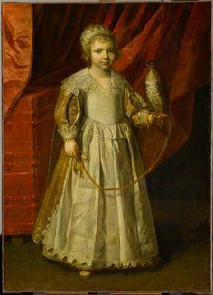 Enfant au faucon ~ Philippe de Champaigne (attribué à)