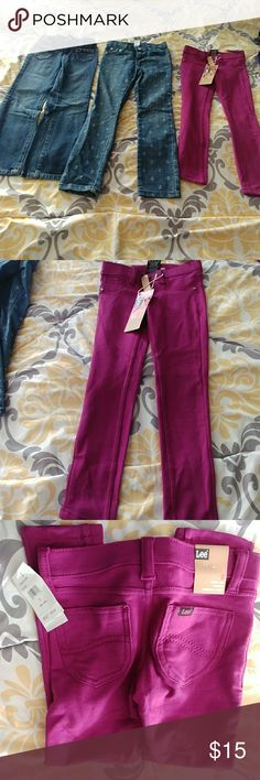Girls jeans Girls size 6 jeans and jegging. Gymboree jeans and Lee jegging. Great condition. Jegging pair is brand new. Listing is for the lot Gymboree Bottoms Jeans
