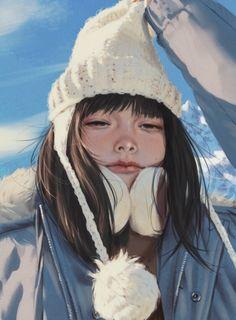 ArtStation - Some photo practice with references, Rui Li Samurai, Character Design Girl, Painting Of Girl, Digital Art Girl, Anime Art Girl, Cool Artwork, Art Inspo, Art Reference, Concept Art