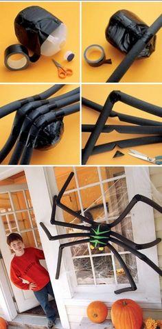 DIY Huge Halloween Spider.