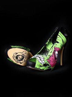 green Zombie Stomper.....wore these for a Halloween wedding best purchase ever