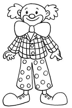 Bohóc sablon Clown Crafts, Carnival Crafts, Carnival Themes, Circus Theme, Colouring Pages, Coloring Sheets, Adult Coloring, Coloring Books, Fete Halloween