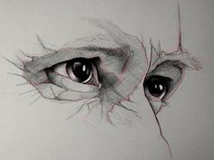 sketch eyes Love how the artist has picked a section to focus on. They have also used leading lines to imply other features like the nose and forehead - View on Dribbble Sketchbook Inspiration, Art Sketchbook, Art And Illustration, Art Illustrations, Drawing Sketches, Art Drawings, Eye Sketch, Drawing Tips, Sketching