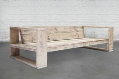 64 New Ideas Diy Wood Bench Outdoor Couch Pallet Furniture, Furniture Projects, Furniture Design, Outdoor Furniture, Furniture Plans, Recycled Wood Furniture, System Furniture, Furniture Chairs, Garden Furniture