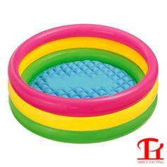 Bể bơi phao INTEX sau khi bơm có đường kính 1m47, cao 33cm giúp bố mẹ cho các bé tập bơi tại ngôi nhà của bạn. Mua bể bơi giá rẻ nhất tại thể thao Thiên Trường