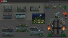 ArtStation - LEGO: Hidden Side Concept Art, Emma Goetz Lego Halloween, Ar Game, Lego Sets, Concept Art, Mansions, House Styles, Artwork, Conceptual Art, Lego Games