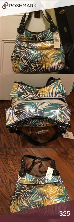 NWT Nine & Co purse Brand new purse, still with tags.  Multicolored palm leaf print as pictured.  Never been used, adorable everyday bag! Nine & Co. Bags