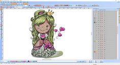 Princess screenshot in Wilcom embroidery software