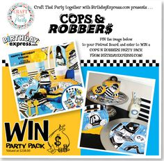 Craft That Party: Birthday Express Cops and Robbers Ultimate Giveaway