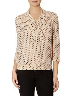 Polka Dot Bow Blouse from THELIMITED.com #ItsTime #TheLimited