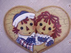 "Ann and Andy hand painted on a wood heart, 9""W x 6.5""L. From NottinghamCottage on Etsy."