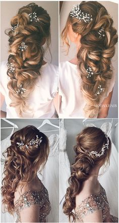 Most romantic bridal with thick loose braid and hair pins wedding hairstyles for. - - Most romantic bridal with thick loose braid and hair pins wedding hairstyles for long hair romantic braids Medium Hair Braids, Loose Braids, Braids For Long Hair, Medium Hair Styles, Curly Hair Styles, Black Braids, Long Hair Wedding Styles, Wedding Hair Pins, Wedding Updo