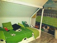 Excellent Voetbal Kamer Meisje that you must know, You're in good company if you're looking for Voetbal Kamer Meisje House Beds, House Rooms, Dream Bedroom, Home Bedroom, Room Themes, New Room, Kids And Parenting, Baby Room, Playroom