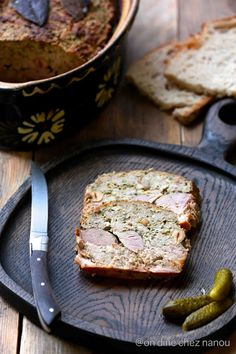 terrine de canard aux noisettes Banana Bread, Food And Drink, Cooking Recipes, Meals, Desserts, Charcuterie, Spring, Summer, Meal Ideas
