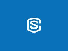 cs logo on dribbble Letter Icon, Letter Logo, Corporate Branding, Logo Branding, Brand Identity Design, Branding Design, Sg Logo, Brand Names And Logos, Learning Logo