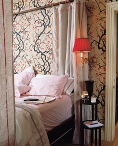 I love this wallpaper - clarence house flower quince wallpaper