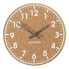 Eco Chunky Cork Wall Clock. White Or Black Print