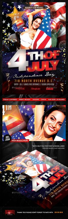 Independence Day Flyer  Event Flyers Psd Templates And Flyer