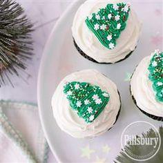 Christmas Tree Cupcakes from Pillsbury® Baking