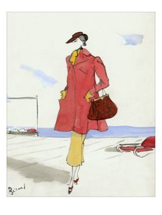 Christian Berard Fashion Sketch   http://www.pinterest.com/adisavoiaditrev/