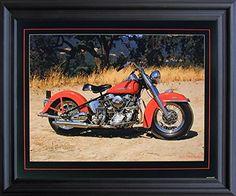 1954 Red Panhead Harley Davidson Vintage Motorcycle Bike Wall Black Framed Picture Art Print (19x23) by Impact Posters Gallery, http://www.amazon.com/dp/B00Z6JO6K0/ref=cm_sw_r_pi_dp_x_yYgCzbASTYWR4