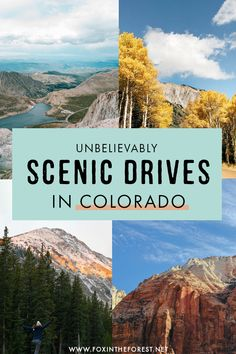 Planning a road trip around Colorado? Colorado is one of the most beautiful states to drive through, so I decided to put together a guide to the most scenic drives and highways in Colorado that you need to add to your Colorado road trip itinerary. Denver Colorado, Colorado Springs, Estes Park Colorado, Aspen Colorado, Road Trip To Colorado, Road Trip Usa, Usa Roadtrip, Colorado Hiking, Colorado Mountains