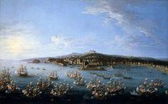 CARLOS III LEAVING THE PORT OF NAPLES 1759
