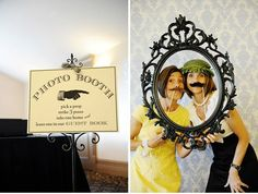 Photo booth idea - like the picture frame!