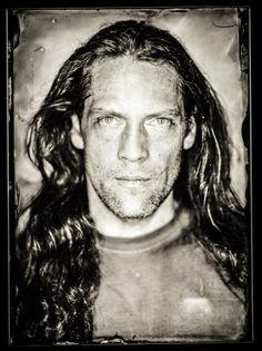Guy of Gisborne, 2008 Wet Plate Collodion, Cyanotype, Human Soul, Jon Snow, Face, Photography, Richard Armitage, Tin, Portraits