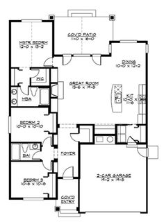 Main Floor...bd 3 = sun room. change kitchen to u-shape, add stairs to basement
