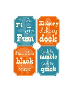 Nursery Rhyme Mother Goose Typography Digital Print 85 X by onered, $15.00