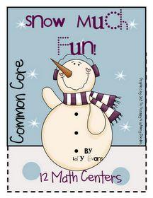 Snow themed math activities