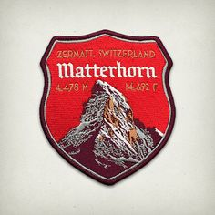Matterhorn embroidered mountain climbing patch made by Expedition Collectibles