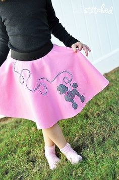 Tomorrow is my little girl's 50th day of Kindergarten and they are celebrating all things 50's.Little kids decked out in poodle skirts, pony tails, white tees and blue jeans. Too much cuteness!It was much more cost effective to make her a skirt and I found a great tutorial for a simple…