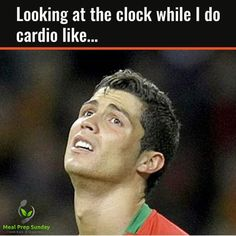Haha. But I actually (honestly) love my treadmill time. And sometimes lose track of the time.