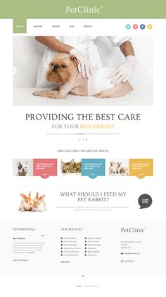 Pets Clinic WordPress Theme