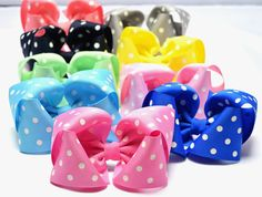 Hair Bows, Polka Dot Hair Bow, Big Baby Bows, Hair Clips for Girls, Large Hair Bows, 5 Inch Hair Bows, Toddler Hair Bows, Hairbows,500 by YourFinalTouch on Etsy
