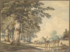 Hendrik Gerrit ten Cate (Dutch, 1803–1856). Deer under Beech Trees in Winter, mid 19th century. The Metropolitan Museum of Art, New York. Frits and Rita Markus Fund, 2012 (2012.372)