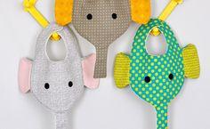 Elephant Bib & Binkie Holder Pattern & Tutorial | Stubbornly Crafty
