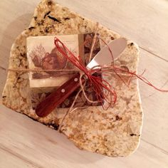 A personal favorite from my Etsy shop https://www.etsy.com/listing/254965366/up-cycled-granite-cheese-board