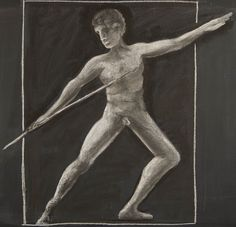 5th Grade: Pentathlon; Javelin Thrower (from an image from Greek pottery)